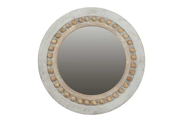 Round Decorative Wood Wall Mirror - Nomad Home
