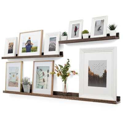 Vinnie 3 Piece Solid Wood Picture Ledge Wall Shelf - Wayfair
