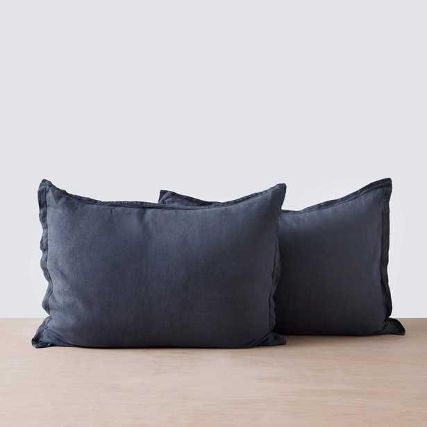 Stonewashed Linen Shams - Slate Blue - Standard - Set of 2 By The Citizenry - The Citizenry