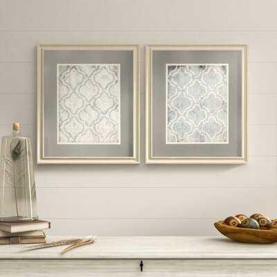 2 Piece Framed Graphic Art Set - Birch Lane