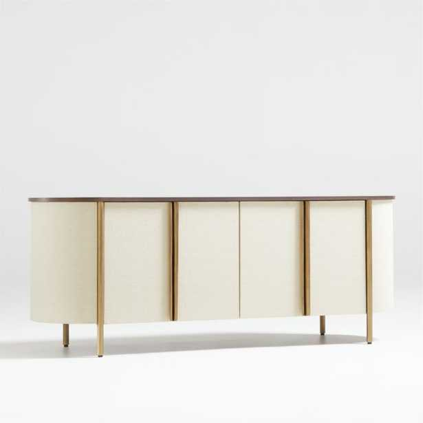 """Avedore Natural 64"""" Media Console - Crate and Barrel"""