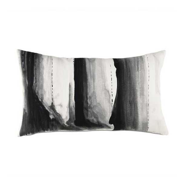 Eastern Accents Brax Hand Painted Lumbar Pillow Color: White/Black - Perigold