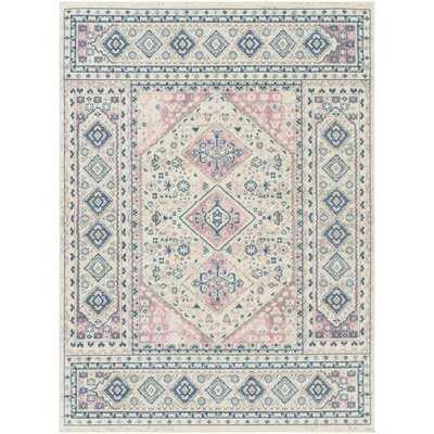 Angeliina Flatweave Pale Pink/Pale Blue Rug - Wayfair