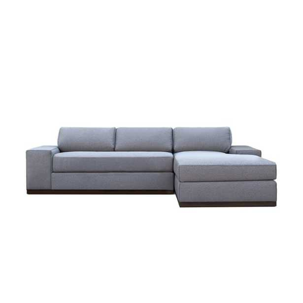 My Chic Nest Evan Right Hand Facing Sectional Body Fabric: Gabrielle Teal - Perigold