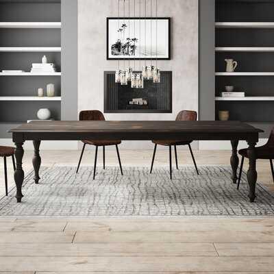 Harriette Rubberwood Solid Wood Dining Table - Wayfair