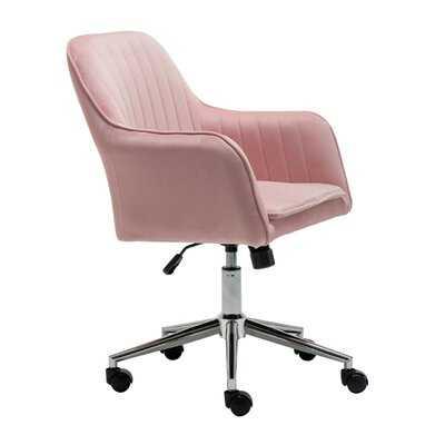 Home Office Desk Task Velvet Computer Chair ,Pink - Wayfair