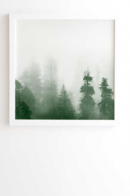 """Green Forest Adventure by Nature Magick - Framed Wall Art Basic White 30"""" x 30"""" - Wander Print Co."""