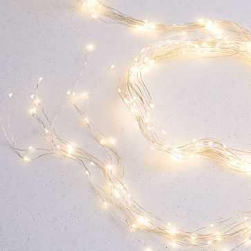 LED String Lights, Silver, 10' - West Elm