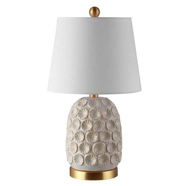 Safavieh Lamson 21 in. Cream Table Lamp - Home Depot
