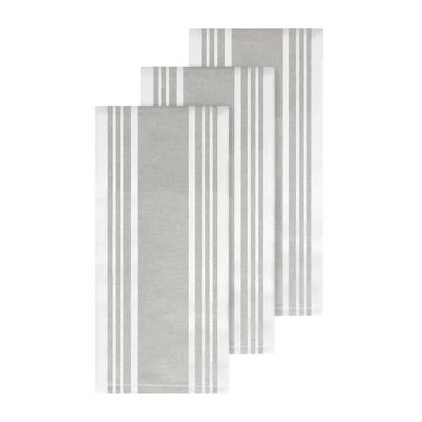 All-Clad All-Clad Dual Woven Stripe Hand Towel Color: Titanium - Perigold