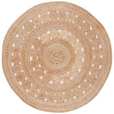 Round Sarita Handmade Flatweave Jute/Sisal Natural Area Rug - Wayfair