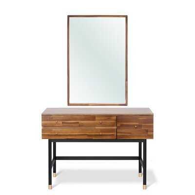 Tressa Solid Wood Vanity with Mirror - AllModern