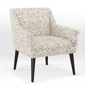 Button Tufted Chair, Print, Tiger - West Elm