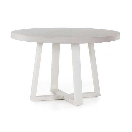 "Outdoor Lavastone Slab 48"" Round Dining Table - West Elm"