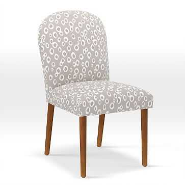 Round Back Dining Chair, Leopard Spots, Light Flax - West Elm