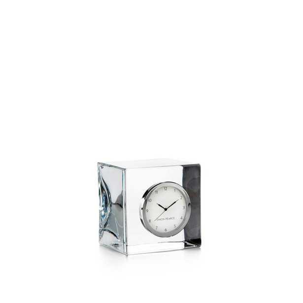 Simon Pearce Modern & Contemporary Analog Glass Quartz Tabletop Clock in Clear - Perigold
