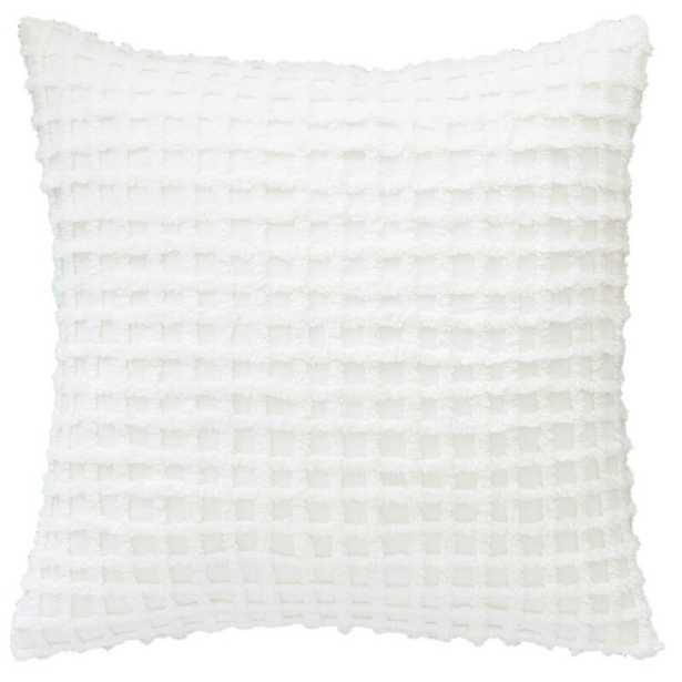 Pine Cone Hill Gridwick Dove Decorative Cotton Geometric Throw Pillow Color: Dove White - Perigold