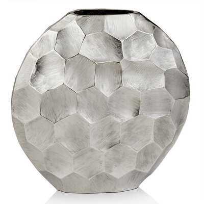 Zayyan Silver 12'' Metal Table Vase - Wayfair