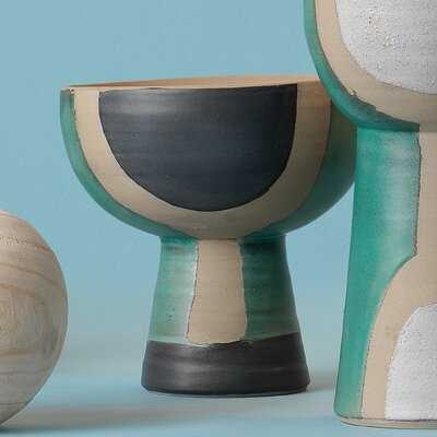 Kirkhill Teal 8.5'' Ceramic Table Vase - Wayfair