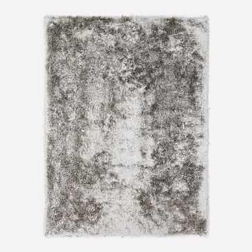Glam Shag Rug, 8x10, Pearl Gray - West Elm