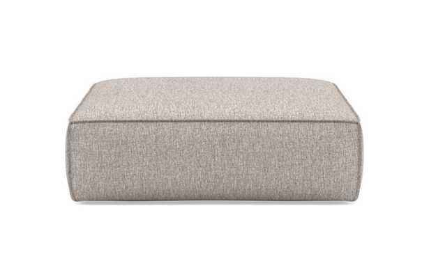 Gray Ottoman with Brown Earth Fabric - Interior Define