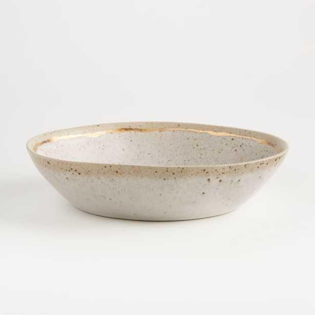 Primrose Gold Low Bowl - Crate and Barrel