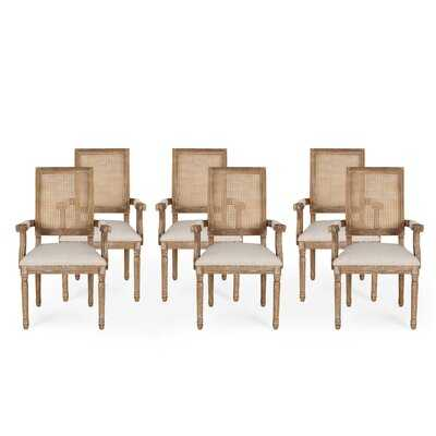Ellome Wood And Cane Dining Chair (Set Of 6) - Wayfair