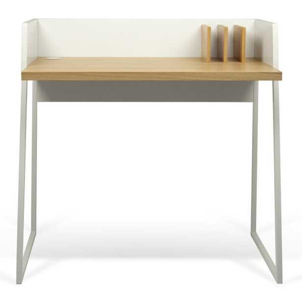 Writing Desk Color (Top/Frame): Oak/Matte White - Perigold