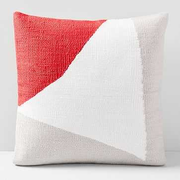 """Amplified Arrow Pillow Cover, So Red, 20""""x20"""" - West Elm"""