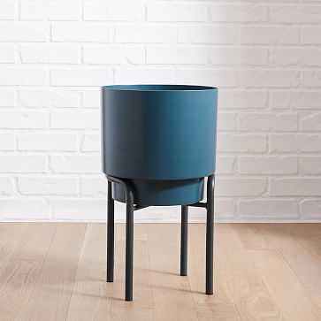 Two-Tone Metal Planter, Tall - West Elm