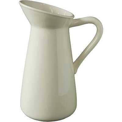 """Off White 10"""" Porcelain Table Vase - Wayfair"""