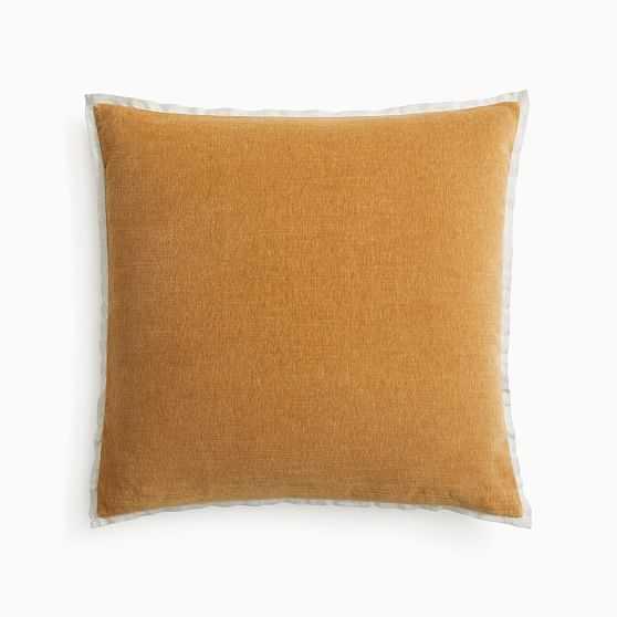 """Classic Cotton Velvet Pillow Cover, 20""""x20"""", Golden Oak - West Elm"""