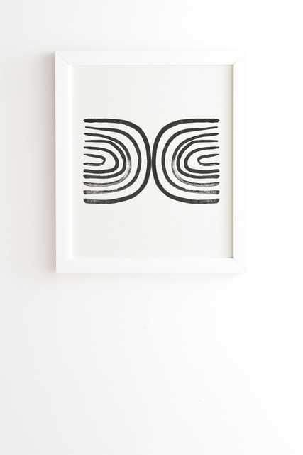 """Round About by Megan Galante - Framed Wall Art Basic White 8"""" x 9.5"""" - Wander Print Co."""