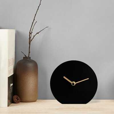 Analog Metal Quartz Tabletop Clock - Wayfair