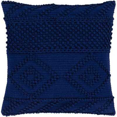 Statler Textured Cotton Geometric Throw Pillow - Wayfair