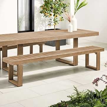 """Portside Outdoor Dining Bench, 88.5"""", Driftwood - West Elm"""
