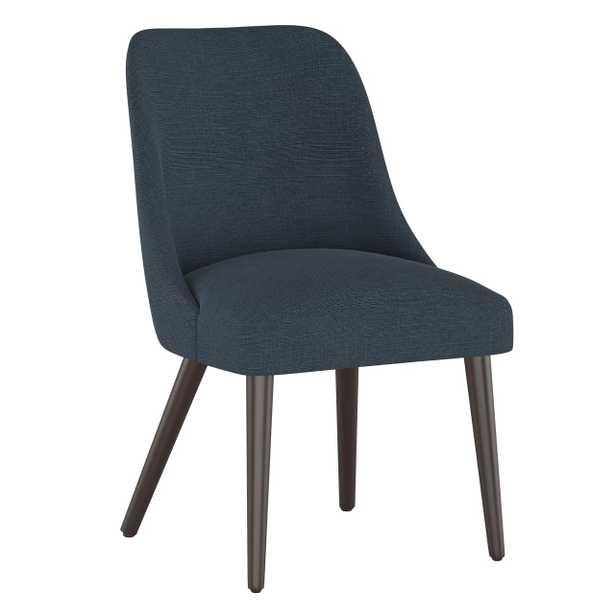 Tara Dining Chair in Linen Navy - Third & Vine
