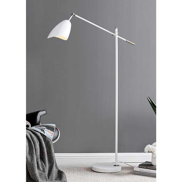 Lite Source Tanko White Adjustable Reading Floor Lamp - Style # 265D0 - Lamps Plus