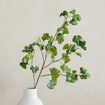 """Faux Gingko Branch, Green, 48"""" - West Elm"""