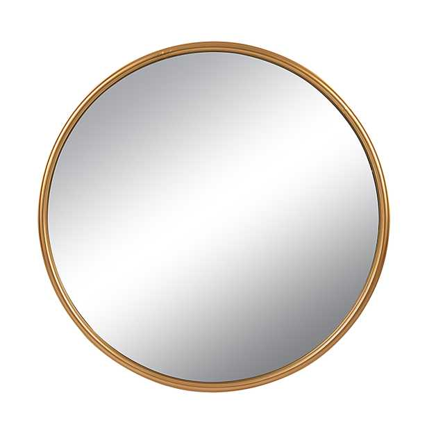 Round Metal Wall Mirror, Gold Finish - Nomad Home