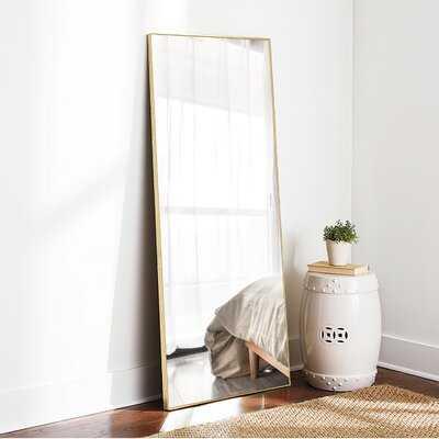 Mercer41 Full Length Mirror Decor Wall Mounted Mirror Floor Mirror Dressing Mirror Make Up Mirror Bathroom/Bedroom/Living Room/Dining Room/Entry, Gold - Wayfair