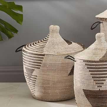 Graphic Printed Basket, Black/White, Oversized - West Elm