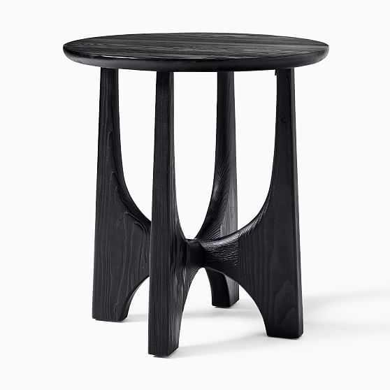 Tanner Solid Wood Black Round Hemlock Side Table - West Elm