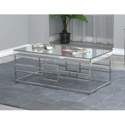 Rectangular Coffee Table With Casters Mirror And Chrome - Wayfair