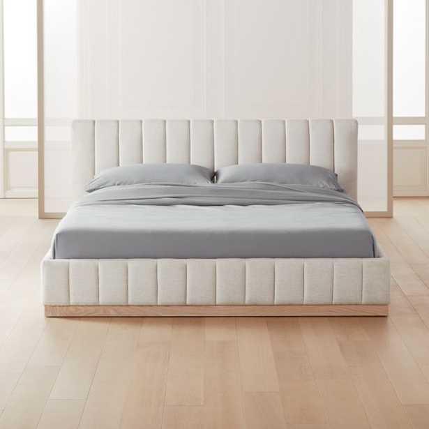 Forte White California King Bed - CB2