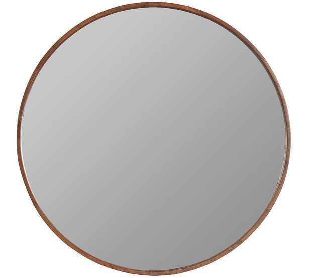 "Danica Wooden Round Wall Mirror, 30"" - Pottery Barn"
