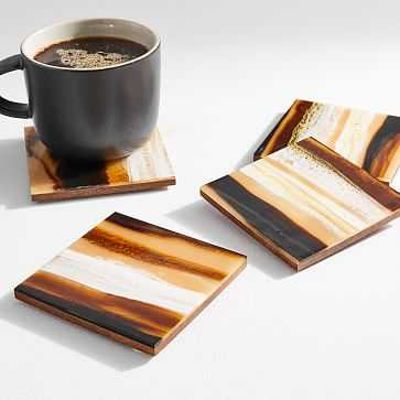 Corday Coasters, Coasters, Natural, Square, Set of 4 - West Elm