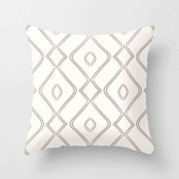 """Modern Boho Ogee In Cream Couch Throw Pillow by Becky Bailey - Cover (20"""" x 20"""") with pillow insert - Indoor Pillow - Society6"""