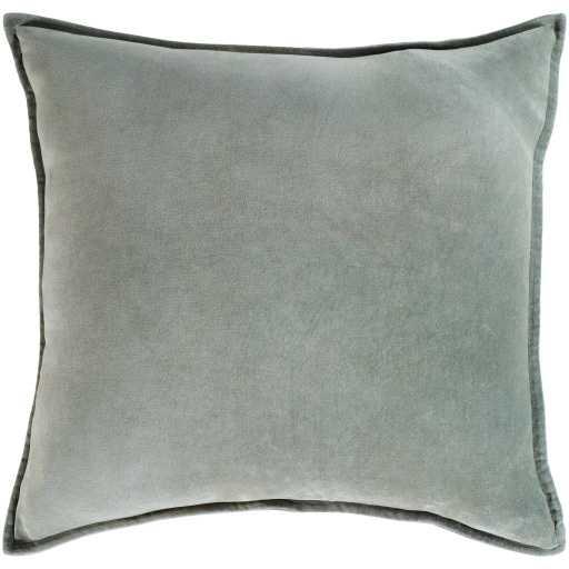 "Cotton Velvet Pillow, 18"" x 18"", Seafoam - Neva Home"