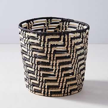 Source Open Coil Baskets, Black/White - West Elm